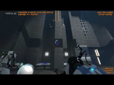 Portal 2 - Co-op Course 2 Mass and Velocity  Easy and Quick Guide Walkthrough PC/Xbox 360/PS3