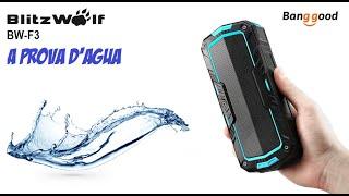unboxing e testes blitzwolf bw f3 caixa de som bluetooth a prova d agua