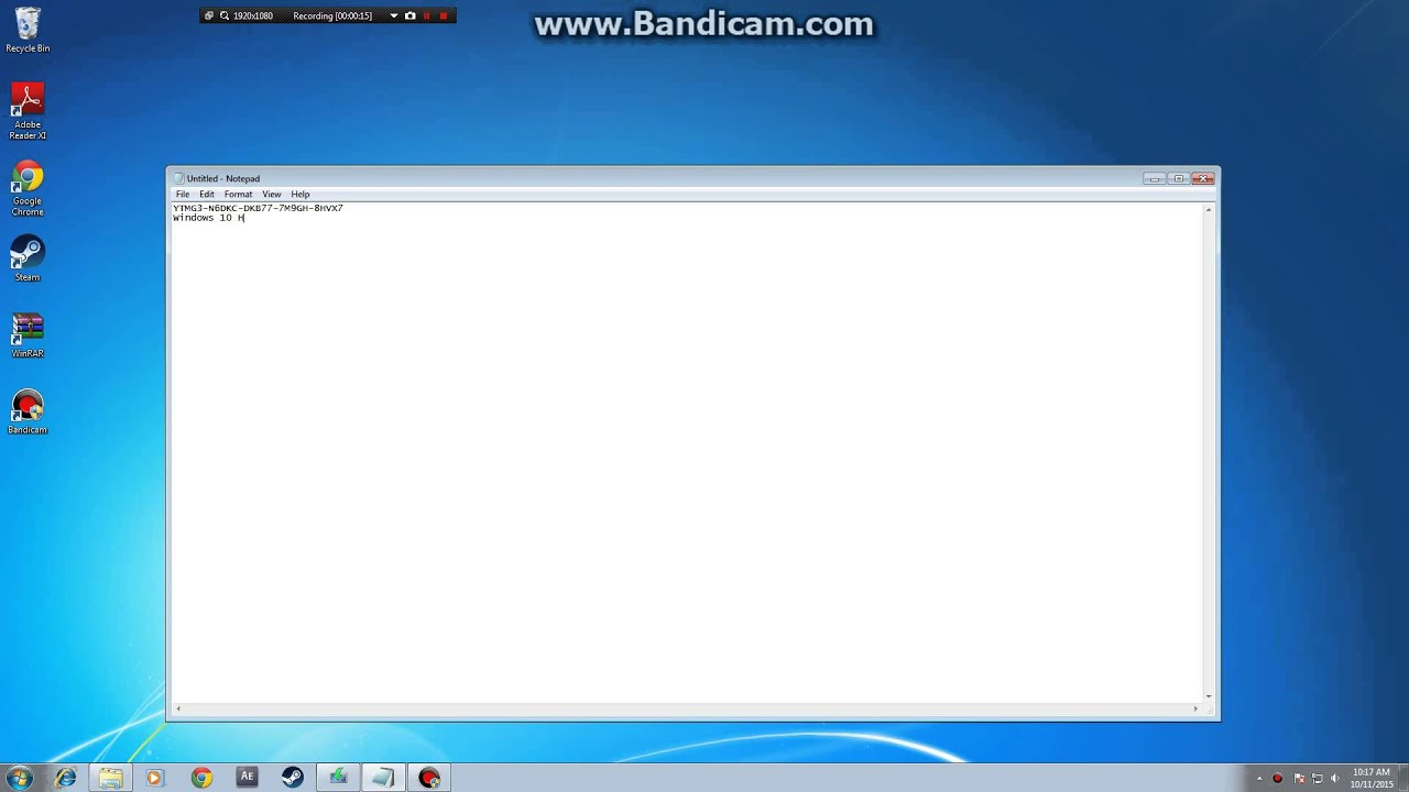 Windows 10 Home Product Key - YouTube