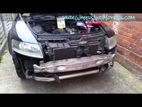 How to remove front bumper cover and headlights (clusters) on Audi A6 (C6 4F)