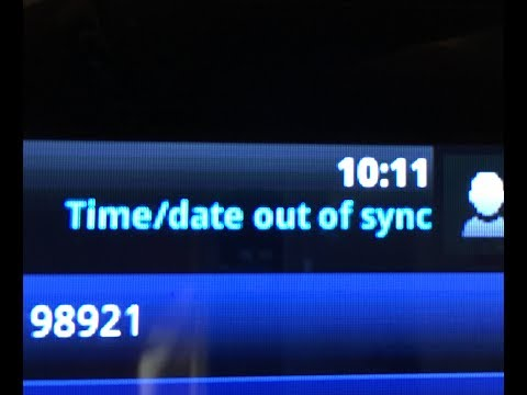 Time/Date out of Sync on Polycom phone