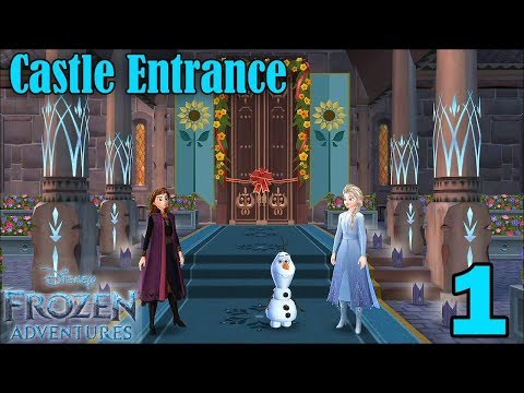Disney Frozen Adventures Walkthrough Gameplay - Castle Entrance Completed - Part 1