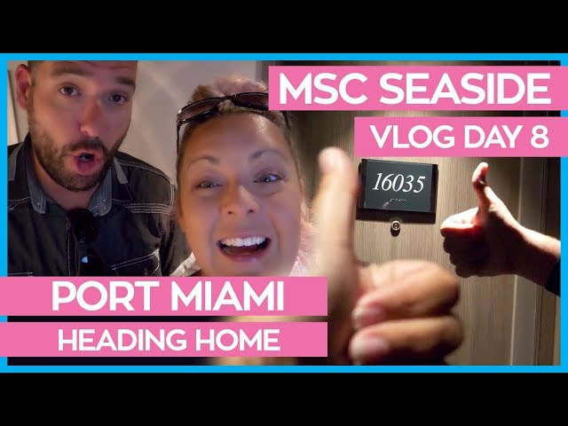 MSC Seaside | Leaving the Ship from the Yacht Club | Cruise Vlog Day 08