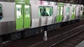 JR E235系山手線新橋駅到着・発車シーン2019年5月(24編成)【4K】
