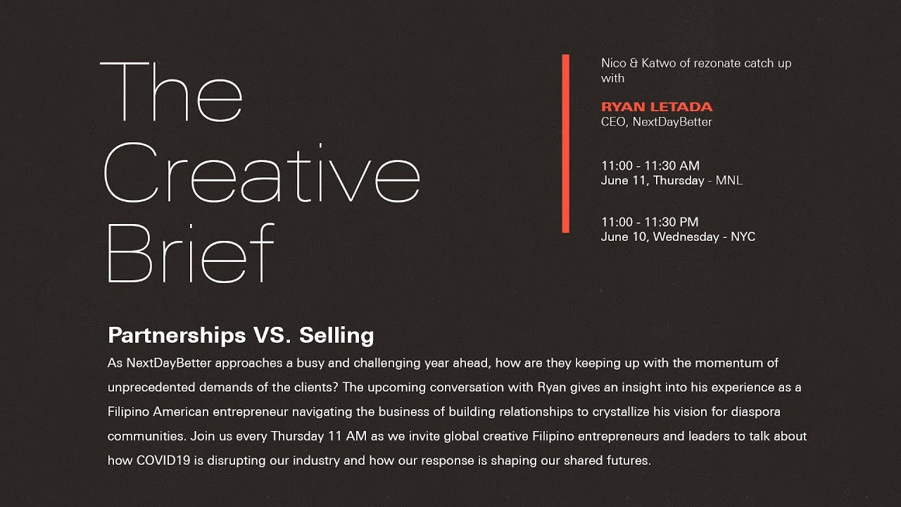 The Creative Brief: Partnerships VS. Selling