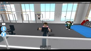 Trolling in roblox fitness Center.