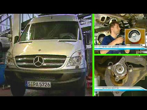 Mercedes-Benz Sprinter | Seal the axle drive (Replacing the radial shaft  sealing ring)