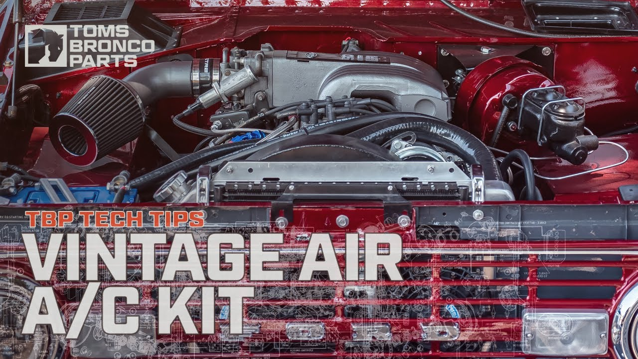 Vintage Air A C Kit In A Bronco W Hd Radiator Amp Stock Fan