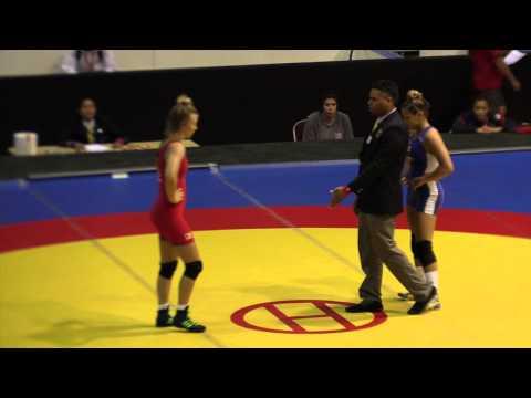 2014 Junior Pan-American Championships: 59 kg Gabrielle Weyhrich (USA) vs Braxton Papadopoulos (CAN)