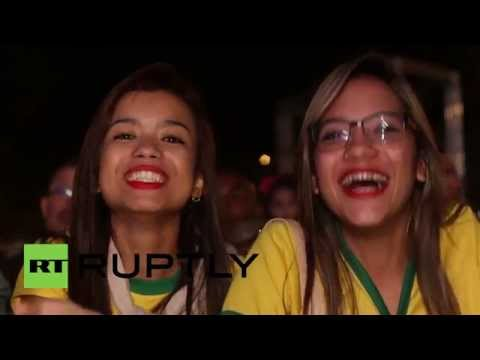 Brazil: Brazilian fans go wild after smashing Cameroon 4-1