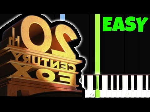 20th Century Fox [Easy Piano Tutorial] (Synthesia/Sheet Music)