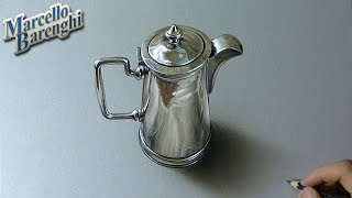 Drawing Time Lapse: silver pitcher - hyperrealistic art