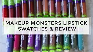 24 Shades of Makeup Monsters Cosmetics Liquid Lipstick Lip Swatches & Full Review // Melissa Gold