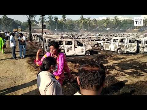 Fire destroys over 170 cars in Chennai's Porur