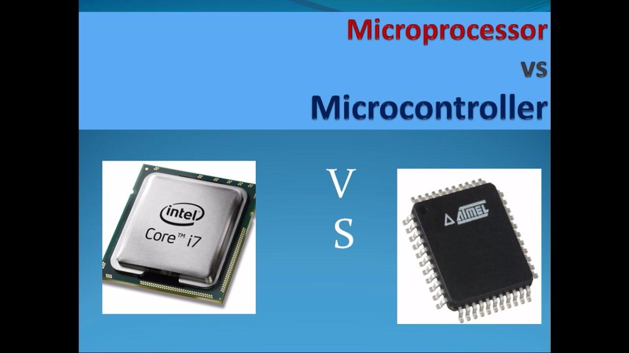 microcontroller vs microprocessor