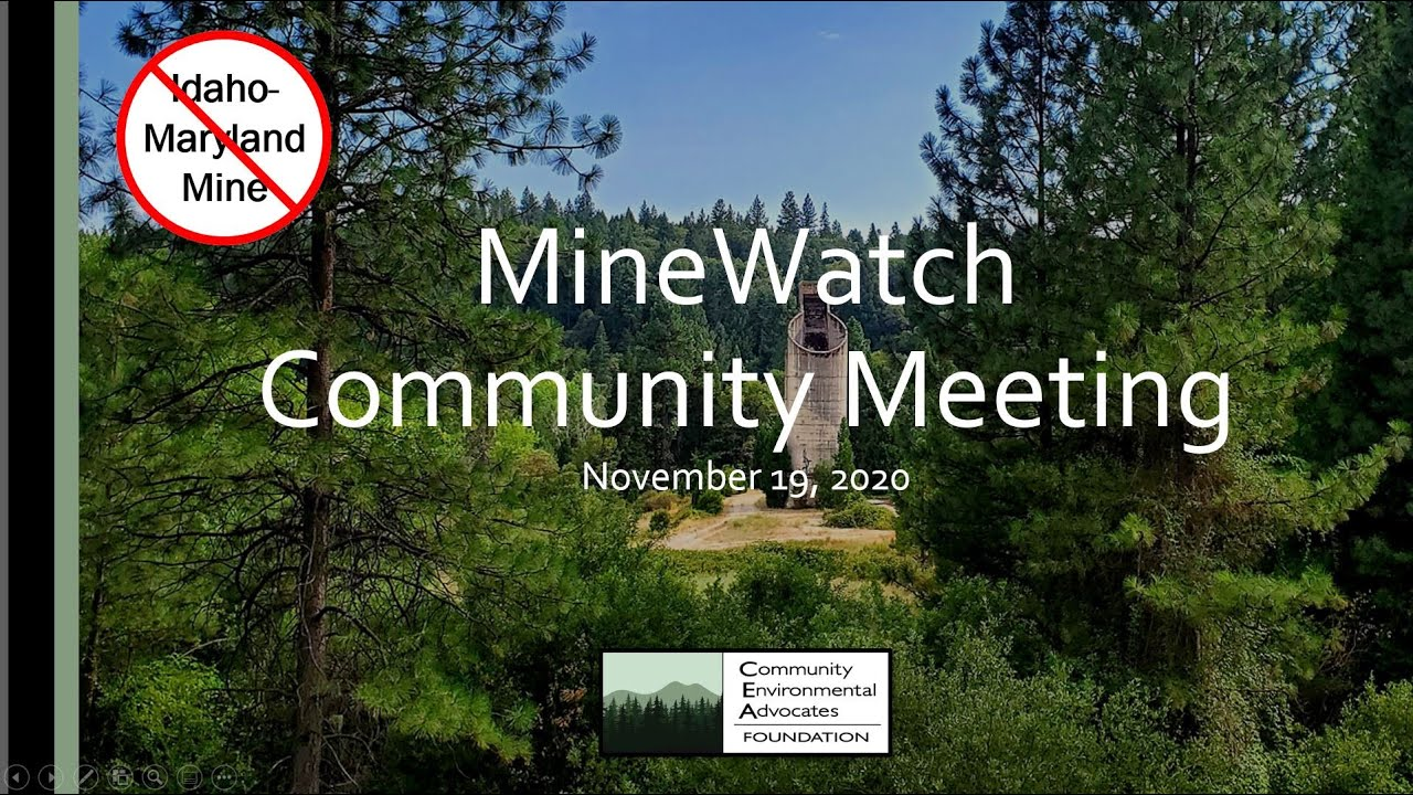 MineWatch November Meeting 2020- AIR