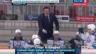 Андрей Назаров, выходки в КХЛ