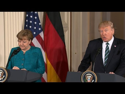 Thumbnail: President Trump hosts Angela Merkel, holds joint press conference