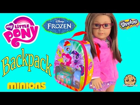 My Little Pony Blind Bag Surprise Backpack Filled With Disney Frozen, Shopkins Season 3 Toys