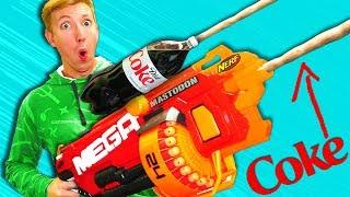 Nerf War: COKE NERF Modification - NERF MOD Challenge IRL 2018