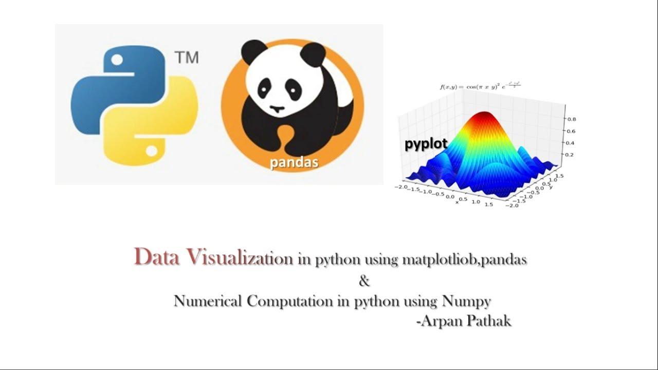 data visualization in python using matplotlib pandas and numpy [ 1280 x 720 Pixel ]