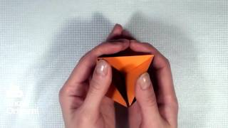 Объемный оригами ромб из бумаги