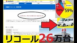【リコール発生!】エブリィ96回 リコール26万台 内訳は?