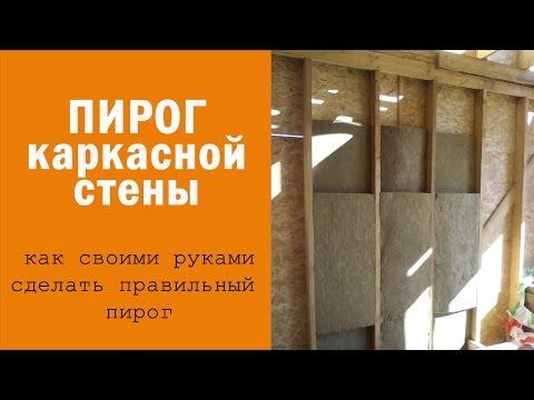 видео: Каркасный дом своими руками: пирог каркасной стены. Стойки, укосины, теплый угол