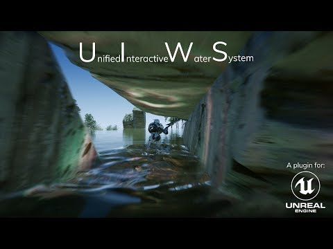 Interactive Water + Caustics + Foliage interaction plugin : unrealengine