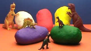 Dinosaurs toys Play Doh surprise balls
