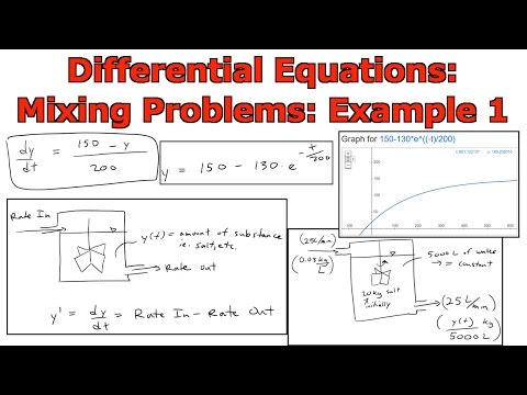 Differential Equations: Mixing Problems: Example 1