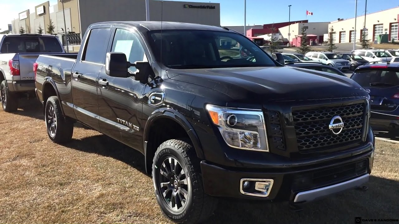 2016 nissan titan xd pro 4x in silver and black youtube. Black Bedroom Furniture Sets. Home Design Ideas