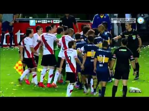 Boca 0 - Riber 0 Pelea entre Gago y Ponzio / Copa Sudamericana 2014