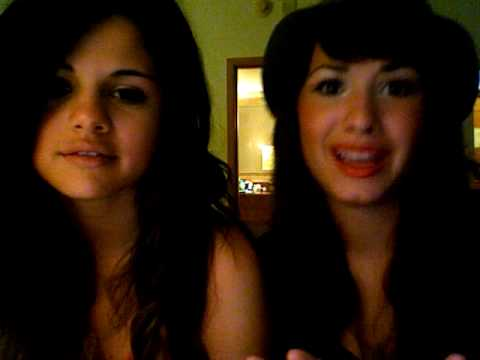 demi lovato and selena gomez with SPECIAL GUEST!!!