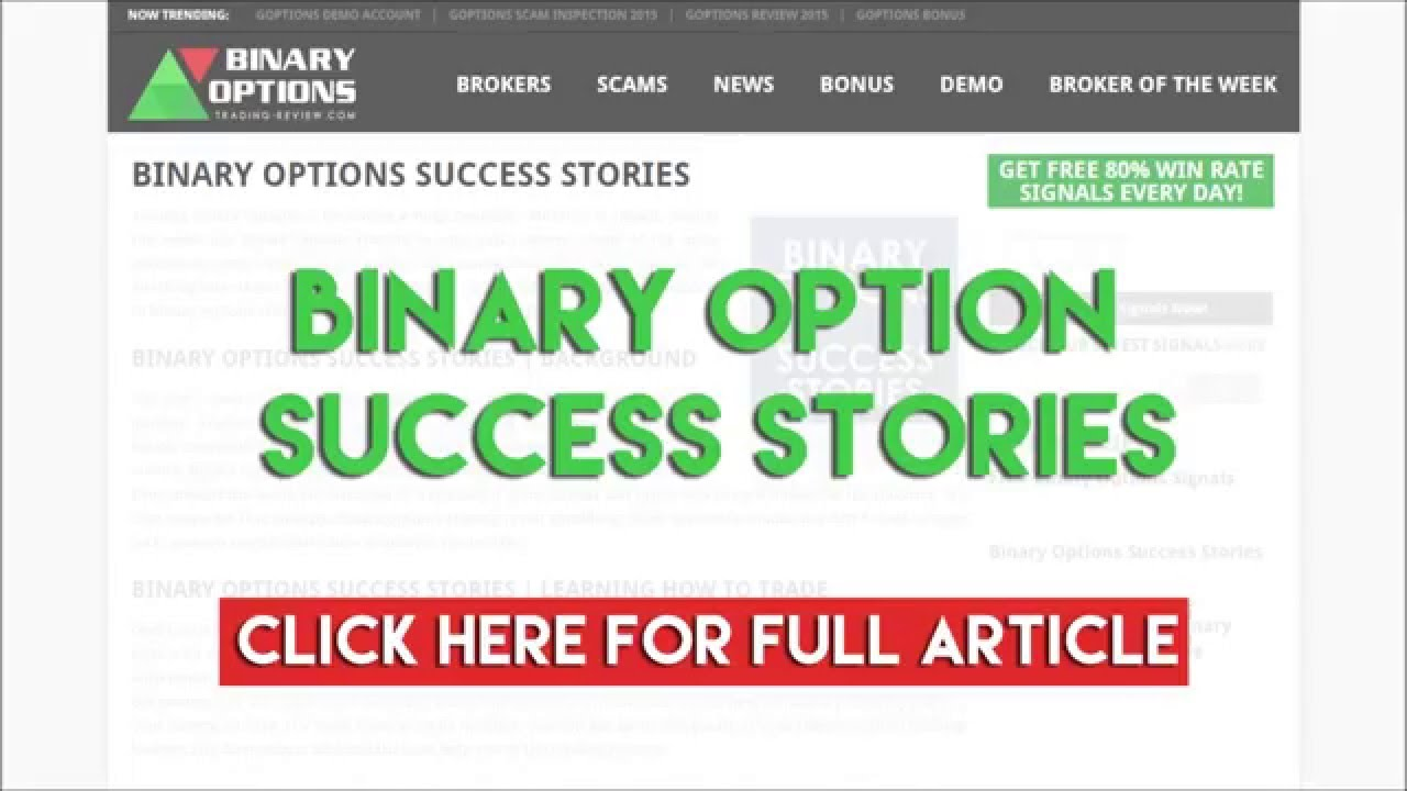 Success with binary options