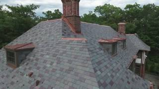 Semi Weathering Slate Custom Blend - Highland Park, installed by CRC Cedar Roofing Company