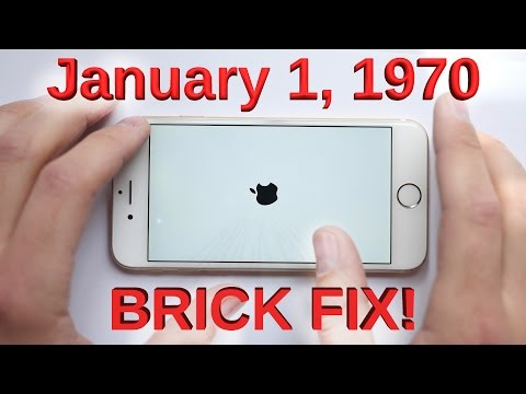 January 1, 1970 Bricked iPhone Glitch FIXED!!