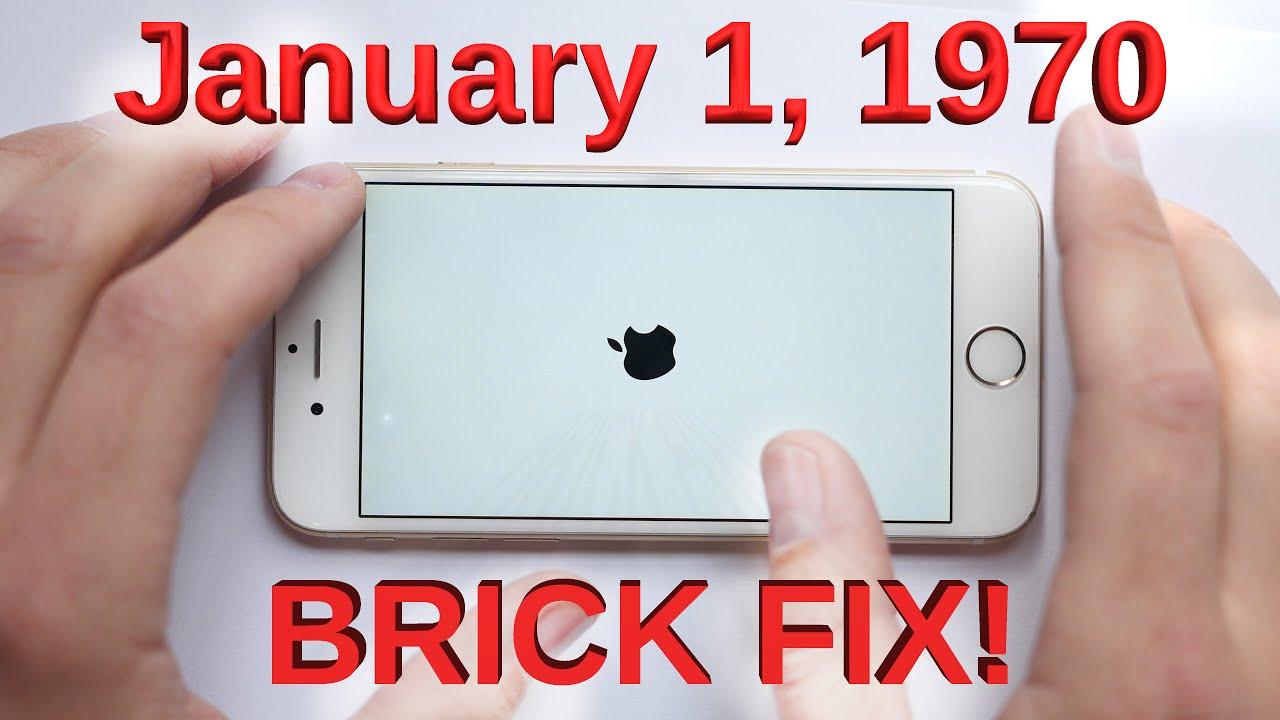 January 1, 1970 Bricked iPhone Glitch FIXED!! - YouTube