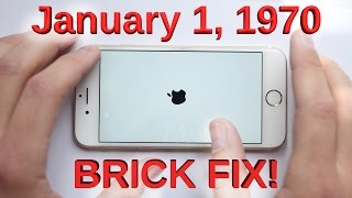 January 1, 1970 Bricked iPhone Glitch FIXED!!(If you fell for the January 1st, 1970 bricked iPhone prank... you need new friends. HERE is the Smart Phone tool kit: http://amzn.to/1OZcYFk It has all the bits you ..., 2016-02-13T20:14:42.000Z)