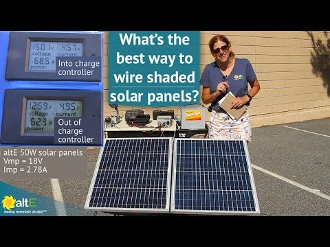 How to Wire Shaded Solar Panels
