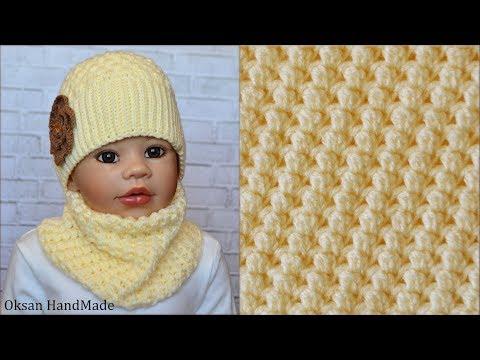 Шарф снуд крючком. Новый узор. Scarf Snood Crochet