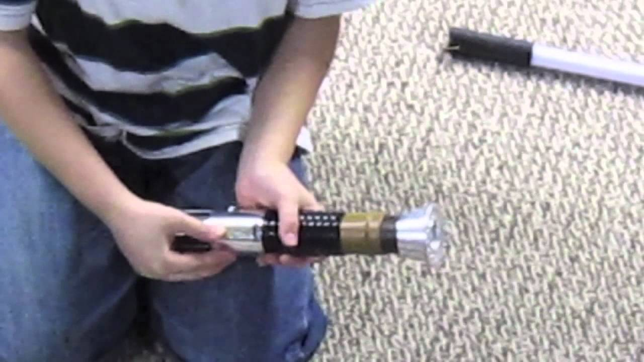 Obi Wan Kenobi Force Fx Lightsaber With Removable Blade  YouTube