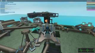 Roblox: Mécanisme: Toppling base avec de l'artillerie cassée