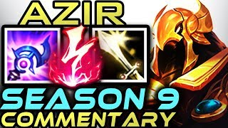 AZIR GUIDE SEASON 9 | FULL GAME COMMENTARY | Gameplay + Runes + Items | Zoose | League of Legends