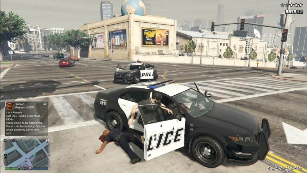قتلت الشرطة سرقة سيارة الشرطة _ العاب سيارات _The police killed the police car theft