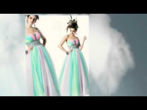 Rainbow Wedding Dress for your Rainbow Wedding Motif - YouTube