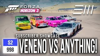 "Forza Horizon 3 - Lamborghini VENENO vs ""ANYTHING???"" Subscriber Showcase!"