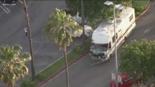 Police chase ends when driver in stolen RV crashes