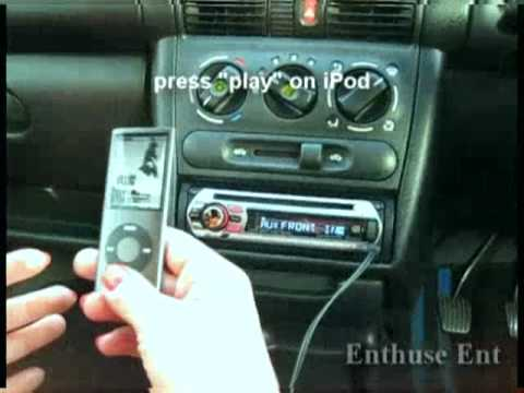 How To Connect Ipod To Car Stereo Via Aux Youtube