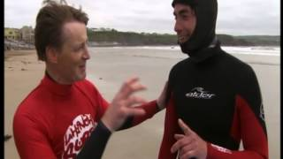 BBC Series - Simon Reeve Learns to Surf with John McCarthy